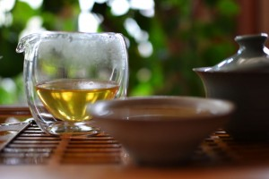 Brewed Naka Puer Tea from Douji