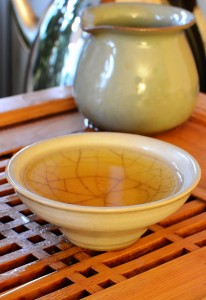 Yiwu Puer tea in the cup