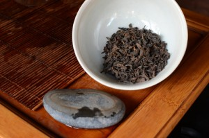 Dry 1980's raw puer tea