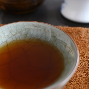 puer tea in a teacup