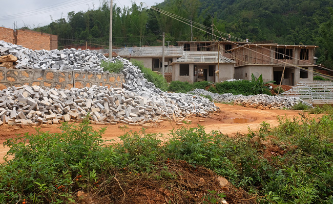 Chinese Government Infrastructure in rural Yunnan