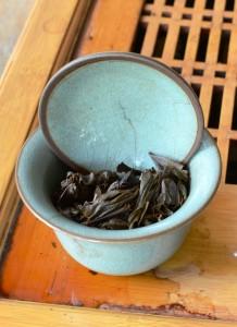Aged puer tea gaiwan