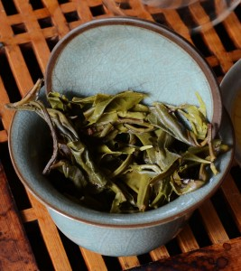 Spent leaves in the gaiwan