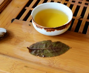 Yiwu tea and leaf